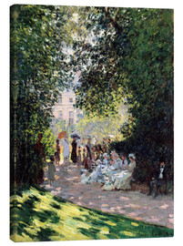 Canvastavla  The Parc Monceau - Claude Monet