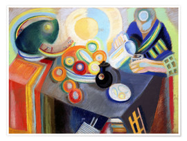 Poster  Portuguese Woman pouring something - Robert Delaunay
