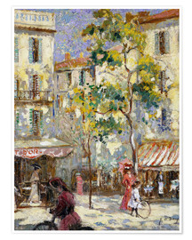 Poster  Street scene in Paris - Joseph Alfred Terry