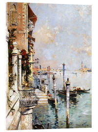 Akrylglastavla  The Grand Canal, Venice - Franz Richard Unterberger