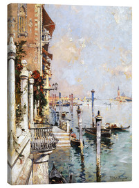 Canvastavla  The Grand Canal, Venice - Franz Richard Unterberger