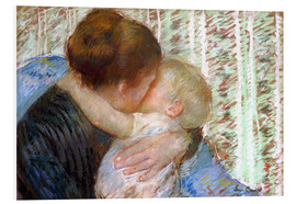 PVC-tavla  The Goodnight Kiss - Mary Stevenson Cassatt