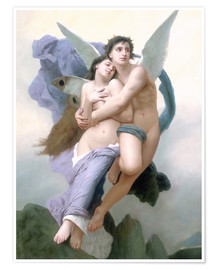 Premiumposter  Abduction of Psyche - William Adolphe Bouguereau