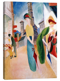 Canvastavla  In front of hat shop - August Macke