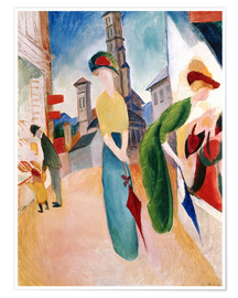 Premiumposter  In front of hat shop - August Macke