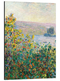 Aluminiumtavla  Flower Beds at Vetheuil - Claude Monet