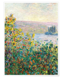 Premiumposter  Flower Beds at Vetheuil - Claude Monet