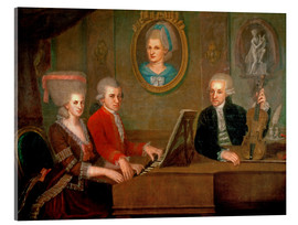Akrylglastavla  The Mozart family making music - Johann Nepomuk della Croce