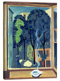 Canvastavla  Courtyard with sunbeams - Ernst Ludwig Kirchner