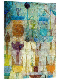 Akrylglastavla  Plants early in the morning - Paul Klee
