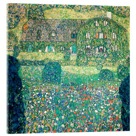 Akrylglastavla  Country house on Attersee lake - Gustav Klimt