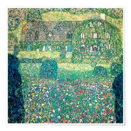 Premiumposter  Country house on Attersee lake - Gustav Klimt
