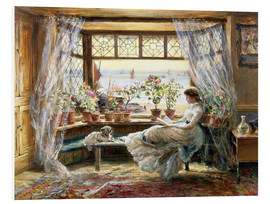 PVC-tavla  Reading by the Window, Hastings - Charles James Lewis