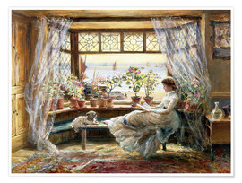 Premiumposter  Reading by the Window, Hastings - Charles James Lewis