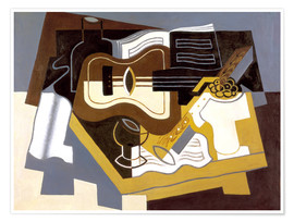 Premiumposter  Guitar and clarinet - Juan Gris