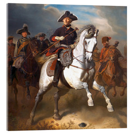 Akrylglastavla  Frederick the Great on horseback - Wilhelm Camphausen