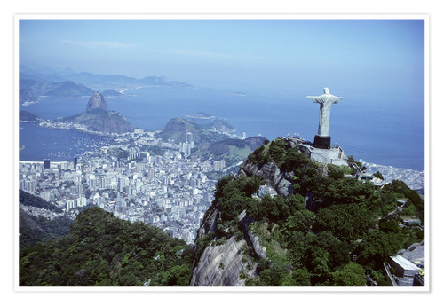 Premiumposter Christ is enthroned over Rio