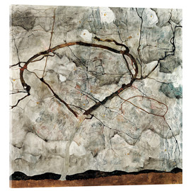 Akrylglastavla  Autumn Tree in Stirred Air (Winter Tree) - Egon Schiele