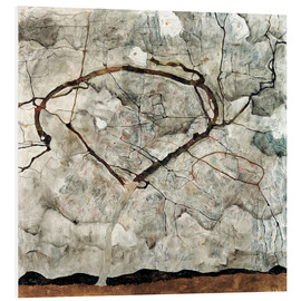 PVC-tavla  Autumn Tree in Stirred Air (Winter Tree) - Egon Schiele