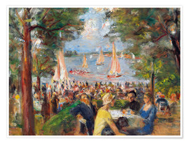 Poster Beer garden on the Havel river