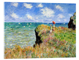Akrylglastavla  The Cliff Walk at Pourville - Claude Monet