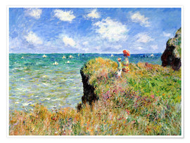 Premiumposter  The Cliff Walk at Pourville - Claude Monet