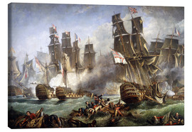 Canvastavla  Slaget vid Trafalgar - William Clarkson Stanfield