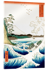 Akrylglastavla  The Sea Off Satta in Suruga Province - Utagawa Hiroshige
