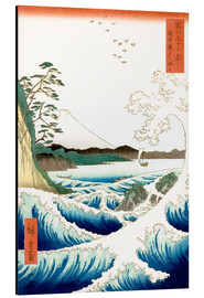 Aluminiumtavla  The Sea Off Satta in Suruga Province - Utagawa Hiroshige