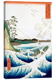 Canvastavla  The Sea Off Satta in Suruga Province - Utagawa Hiroshige