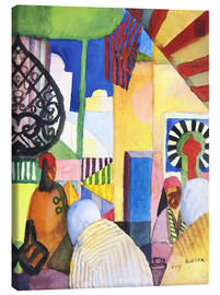 Canvastavla  In the Bazaar - August Macke