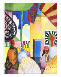 Poster  In the Bazar - August Macke