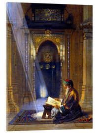 Akrylglastavla  In the Mosque - Carl Friedrich Heinrich Werner