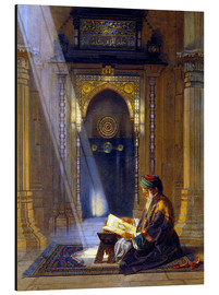 Aluminiumtavla  In the Mosque - Carl Friedrich Heinrich Werner