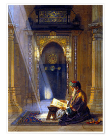 Premiumposter  In the Mosque - Carl Friedrich Heinrich Werner