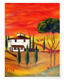 Premiumposter  Warmth of Tuscany - Christine Huwer