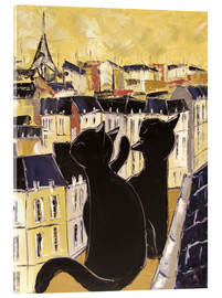 Akrylglastavla  Cats on the rooftops of Paris - JIEL
