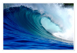 Poster  Big blue wave - Paul Kennedy