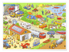 Poster  Car Hidden Object - In the country - Stefan Seidel