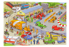 Akrylglastavla  Cars search and find picture: race track - Stefan Seidel