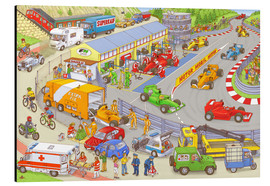 Aluminiumtavla  Cars search and find picture: race track - Stefan Seidel