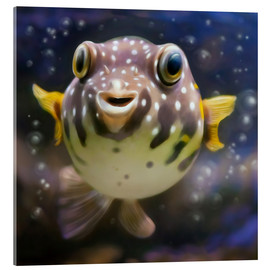 Akrylglastavla  fugu the bowlfish - Photoplace Creative