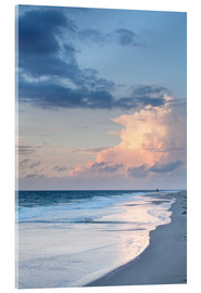 Akrylglastavla  Sylt, sunset at the beach - Markus Lange