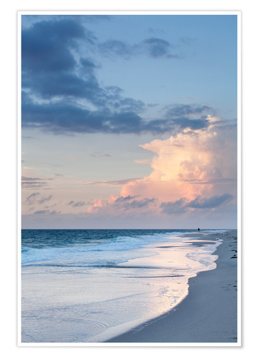 Premiumposter Sylt, sunset at the beach