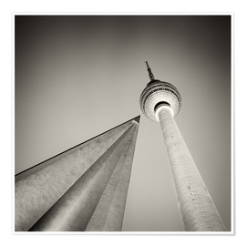 Premiumposter TV tower, Berlin