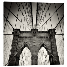 Akrylglastavla  Brooklyn Bridge, New York City - Alexander Voss