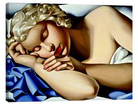 Canvastavla  The Sleeping Girl (Kizette) - Tamara de Lempicka