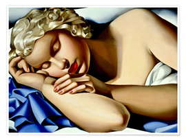 Poster  The sleeping girl (Kizette) - Tamara de Lempicka