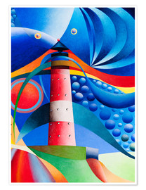 Premiumposter  north sea lighthouse hoernum - Gerhard Kraus