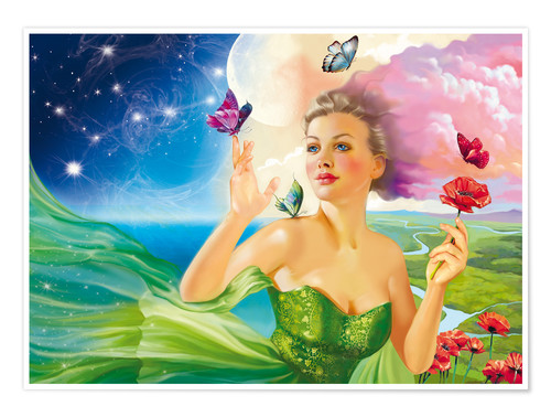 Premiumposter Fairy of the butterflies